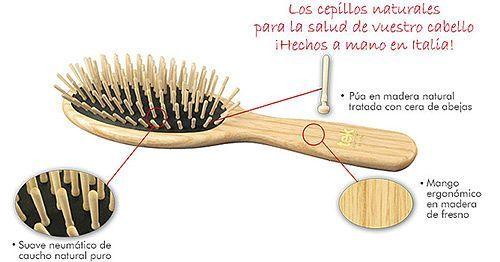Cepillos de madera tek un cepillado suave y sin tirones - Cepillo de madera ...