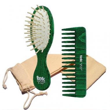 Peine y cepillo Verde para...